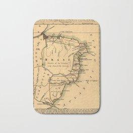 Map Of Brazil 1808 Bath Mat