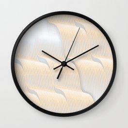 Waves nuances artwork Wall Clock