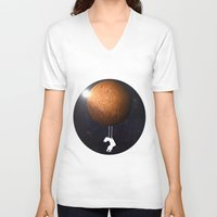 mars V-neck T-shirts featuring Mars by Cs025