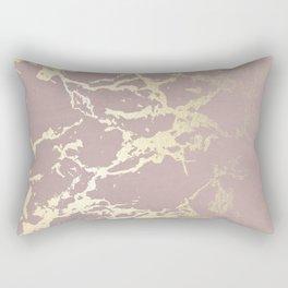 Kintsugi Ceramic Gold on Clay Pink Rectangular Pillow