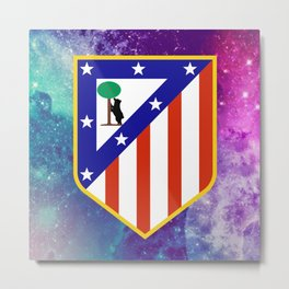Atletico Madrid FC Galaxy Metal Print