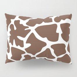 Animal Print (Giraffe Pattern) - Brown White Pillow Sham