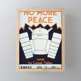 Vintage American WPA Poster - No More Peace at the Cincinnati Federal Theatre (1937) Framed Mini Art Print