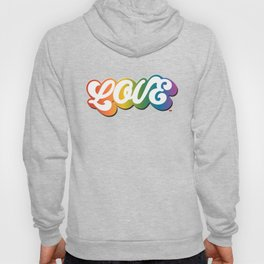 LOVE in All Caps (Rainbow) Hoody