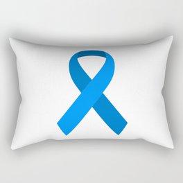 Blue Awareness Support Ribbon Rectangular Pillow