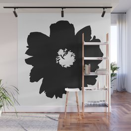 Black Peony Wall Mural