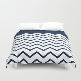 cheveron blue Duvet Cover