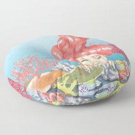 Living Coral Reef Floor Pillow