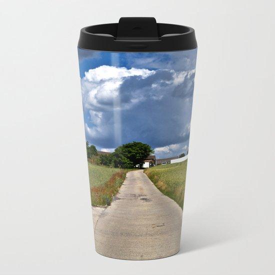 Summer Field Poetry Metal Travel Mug