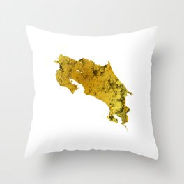 Costa Rica | Pura Vida | Gold Throw Pillow