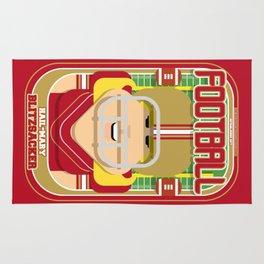 American Football Red and Gold - Hail-Mary Blitzsacker - Hazel version Rug
