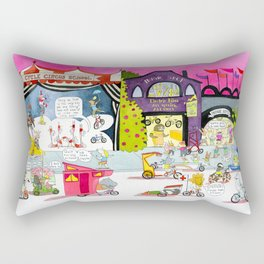 CYCLE CITY just before the parade Rectangular Pillow
