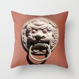 Chinese Door Knocker Throw Pillow