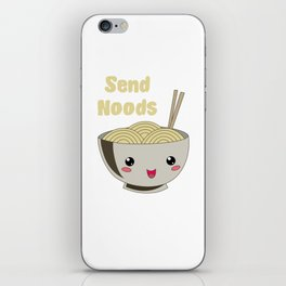 Send Noods Japanese Ramen Noodles Vintage iPhone Skin