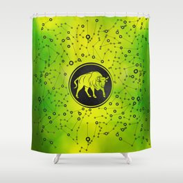 Taurus Zodiac Sign Earth element Shower Curtain