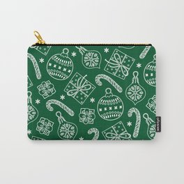Christmas Doodle Pattern Carry-All Pouch