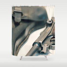 Luger P08 Parabellum handgun. Shower Curtain