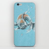 koi fish iPhone & iPod Skins featuring Koi Fish by Daydreamer