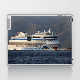 Aida Stella Cruise Ship Leaving Marmaris Laptop & iPad Skin