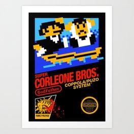 Super Corleone Bros Art Print