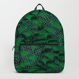 Fern Grid Plant Wall Backpack