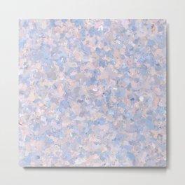Light pink and blue popcorn 4647 Metal Print