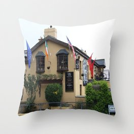Durty Nelly's Village Inn Throw Pillow