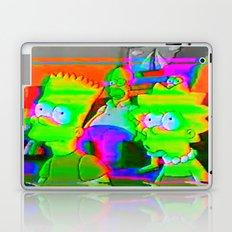 simpsons acid glitch Laptop & iPad Skin