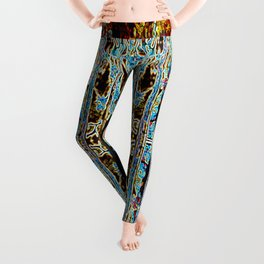 ABSTRACT ICICLES Leggings