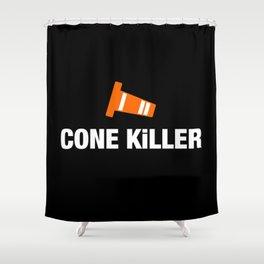 Cone Killer v3 HQvector Shower Curtain