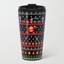 Donkey Kong Ugly Sweater Travel Mug