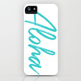Aloha in Tropical Blue iPhone Case