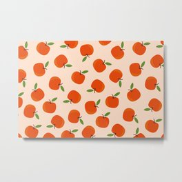 Abstraction_APPLE_PATTERN_Minimalism_001A Metal Print