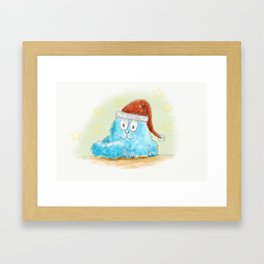 xmas-cat1 Framed Art Print