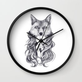 Fox in soul Wall Clock