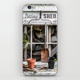 Potting Shed At Work iPhone Skin