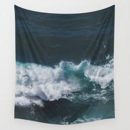 Crashing Waves Heart Wall Tapestry