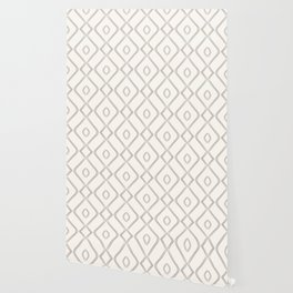 Modern Boho Ogee in Cream Wallpaper
