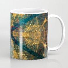 Tribal mandala in blue and gold Mug