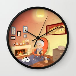 Grandma's home Wall Clock