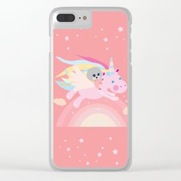 Unicorn puddle Clear iPhone Case