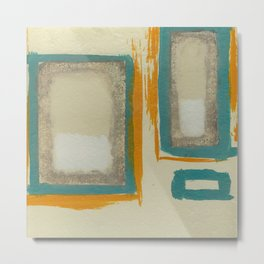 Soft And Bold Rothko Inspired - Modern Art - Teal Blue Orange Beige Metal Print