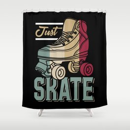 Just Skate | Retro Roller Skating Shower Curtain