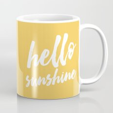 Hello Sunshine - typography Mug