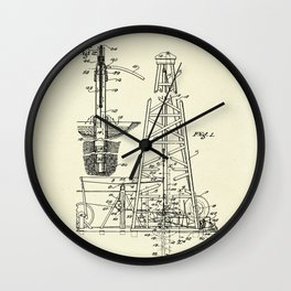 Combination Standard and Hydraulic Drilling Rig-1911 Wall Clock