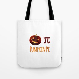 Pumpkin Pi Halloween Math Circle Circumference Ghost Costume Tote Bag