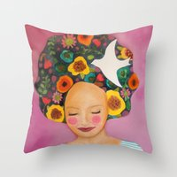 florence Throw Pillows featuring florence by sylvie demers