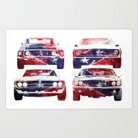 America Muscle Art Print