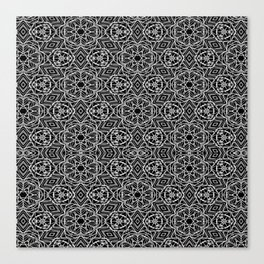 Black and white mystical Kaleidoscope 5010 Canvas Print