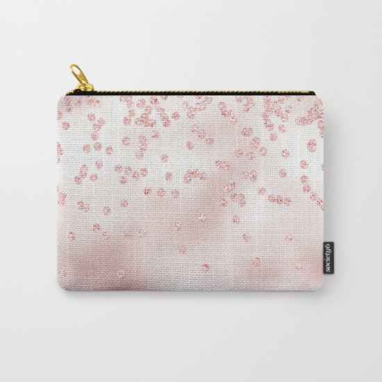 Princess Confetti Glitter on pink metal background #Society6 Carry-All Pouch